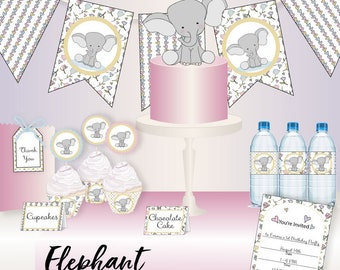 Elephant Party Collection Party Printable - Instant Download