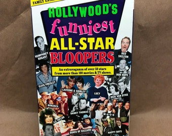Hollywood's Funniest All-Star Bloopers -VHS- OOP