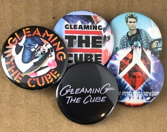 """5 Brand New 1.5"""" """"Gleaming the Cube"""" Button Set"""