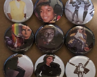"9 Brand New 1"" ""Michael Jackson"" Button Set"