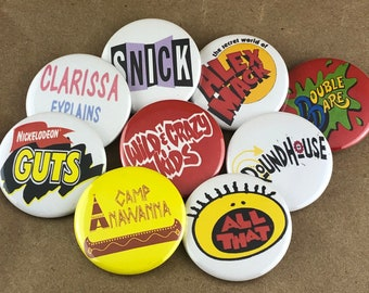 """9 Brand New 1.5"""" """"Snick"""" Button Set"""