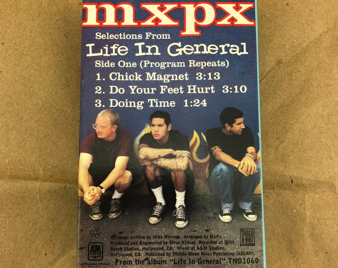 Featured listing image: MxPx Life In General Cassette Sampler -Chick Magnet- Rare