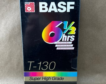 BASF T-130 6 1/2 Hours VHS Tape Selaed.