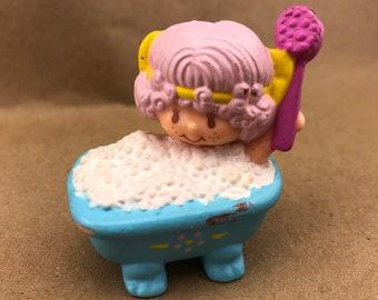 Angel Cake Taking a Bath -Strawberry Shortcake Vintage PVC Toy -