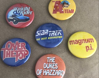 """6 Brand New 1.5"""" """"Classic Shows"""" Button Set"""