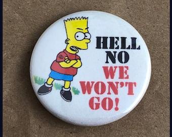 "1 Brand New 1.5"" ""Retro Style Anti War Bart Simpson"" Button Set"