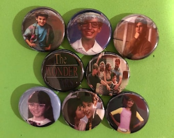 "8 Brand New 1"" ""The Wonder Years"" Buttons Set"