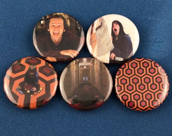"""5 Brand New 1"""" """"The Shinning"""" Button Set"""