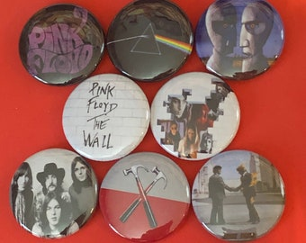 "8 Brand New 1"" ""Pink Floyd"" Button Set"