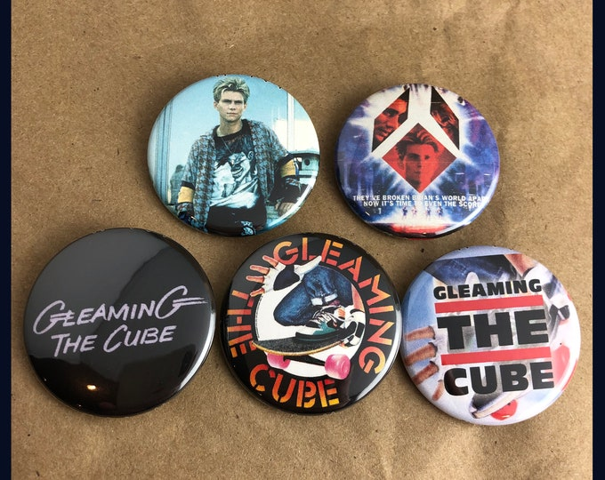 "Featured listing image: 5 Brand New 1.5"" ""Gleaming the Cube"" Button Set"