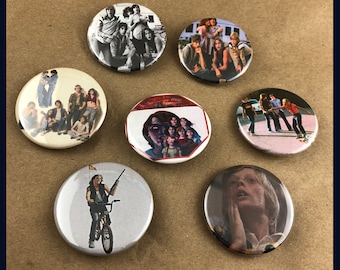 """7 Brand New 1.5"""" """"Over The Edge"""" Button Set"""