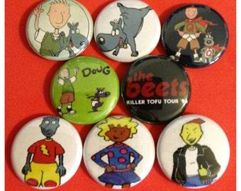"8 Brand New 1"" ""Doug"" Button Set"