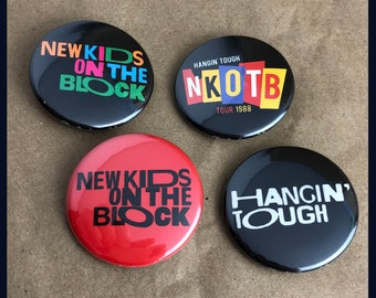 """4 Brand New 1.5"""" """"New Kids on the Block"""" Colors Button Set"""
