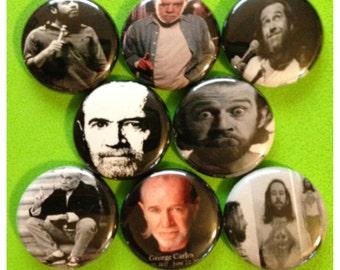 "8 Brand New 1"" ""George Carlin"" Button Set"