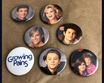 "7 Brand New 1.5"" ""Growing Pains"" Young Button Set"