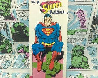 Vintage Superman Super Person Birthday
