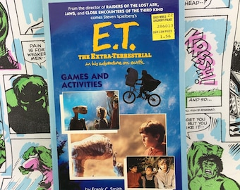 E.T. Games and Activities book, 1982, Mint, Spielberg Science Fiction