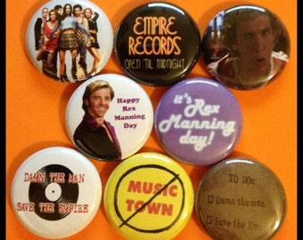 """8 Brand New 1"""" """"Empire Records"""" Button Set"""