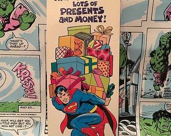 Vintage Superman Presents Greeting Card