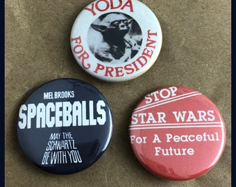 "3 Brand New 1.5"" ""Star Wars"" Button Set"