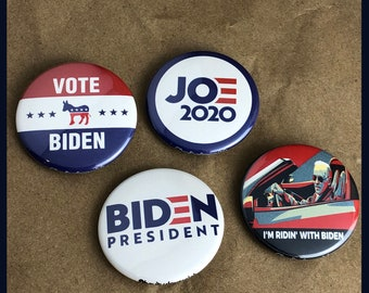 "4 Brand New 1.5"" ""Joe Biden for President"" Button Set"