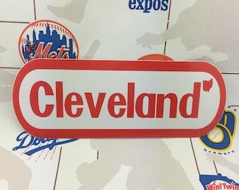 Cleveland NES Logo Bumper Sticker