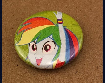 """1 of a kind 1"""" My Little Pony Comic Book Button"""