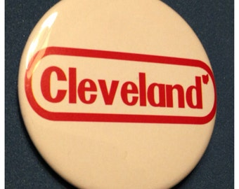 The Cleveland Ohio Nintendo 2.25 Inch Bottle Opener or Button