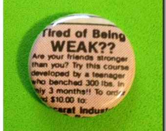 """1 of a kind 1"""" Comic Book Ad Button"""