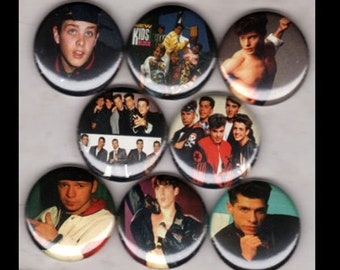 """8 Brand New 1"""" """"New Kids on the Block"""" Button Set"""
