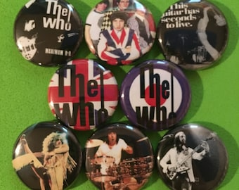 """8 Brand New 1"""" """"The Who"""" Button Set"""