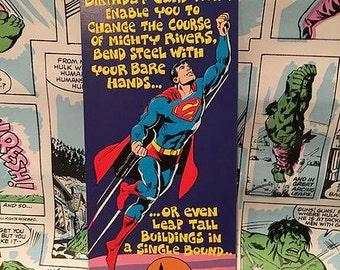 Vintage Superman Birthday Greeting Card