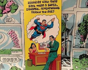Vintage Super Rude Birthday Greeting Card