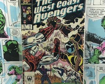 The West Coast Avengers -Marvel Comics- Number 11 August