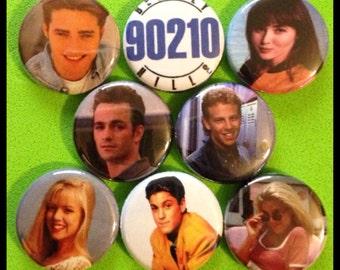 "8 Brand New 1"" ""90210"" Button Set"