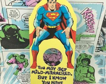 Superman Birthday Hole Card