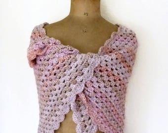 Crochet triangle scarf triangular shawl granny square scarf crochet shawl triangular scarf triangle shawl 60 x 30 inch