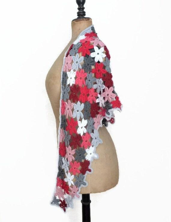 Blume Schal Dreieck Schal häkeln Blume Schal häkeln Schal | Etsy