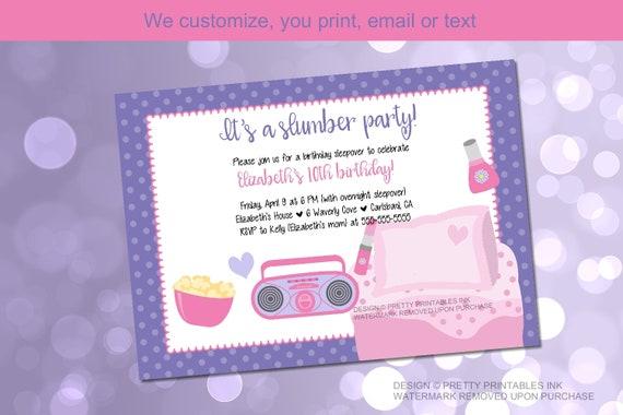image about Printable Slumber Party Invitations referred to as Printable sleepover occasion invitation, sleep celebration