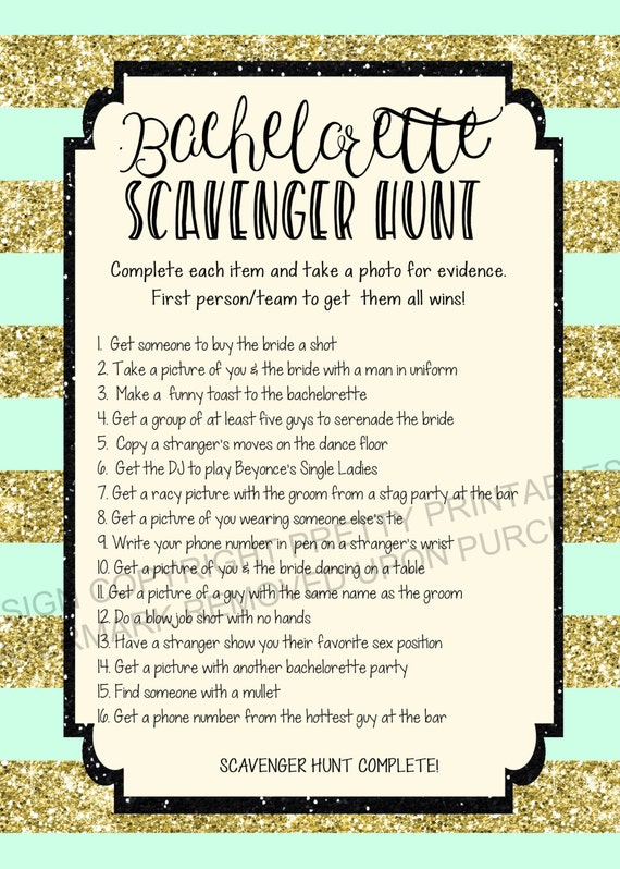 image relating to Printable Bachelorette Scavenger Hunt identify Prompt Down load printable bachelorette scavenger hunt match