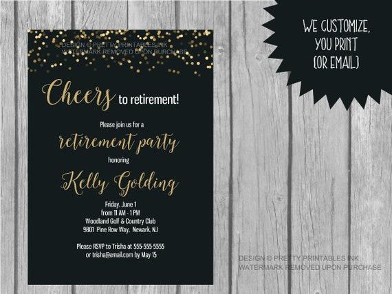 retirement party invitation printable retirement etsy