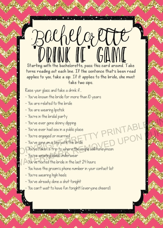 Effortless image for bachelorette party games printable