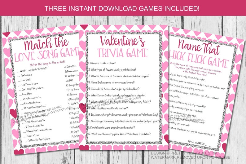 Printable Valentine's party games Virtual Galentine's image 0