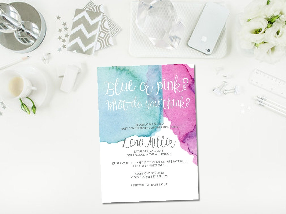 photo relating to Printable Gender Reveal Invitations known as PRINTABLE gender make clear invitation, gender clarify shower invite