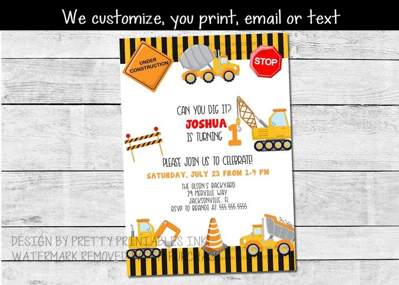 Printable first birthday invitation 1st birthday party image 0