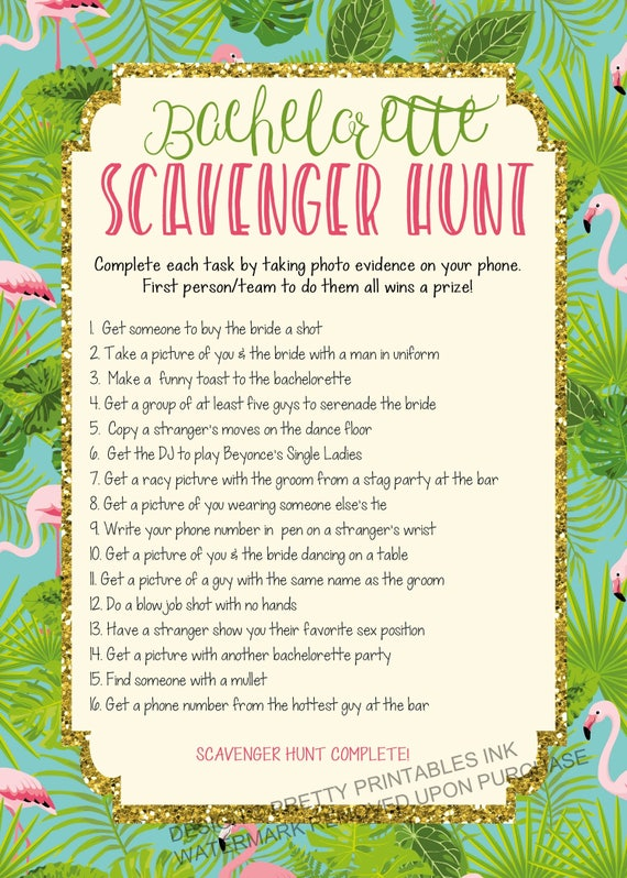picture regarding Printable Bachelorette Scavenger Hunt named Instantaneous down load printable bachelorette scavenger hunt recreation