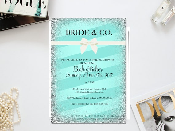 Printable Bride And Co Invitation Bride And Co Shower Breakfast