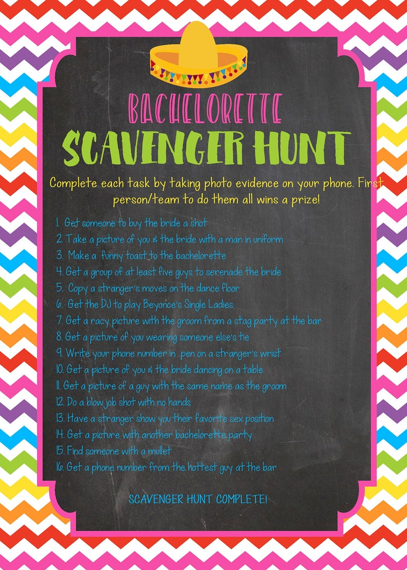 photograph about Printable Bachelorette Scavenger Hunt identified as Printable bachelorette scavenger hunt match / bachelorette video game / chook celebration video game / bachelorette printable / scavenger hunt / ingesting sport
