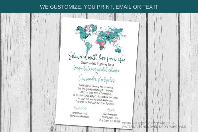Bridal Shower by Mail Invitation Long Distance Shower By Mail image 1