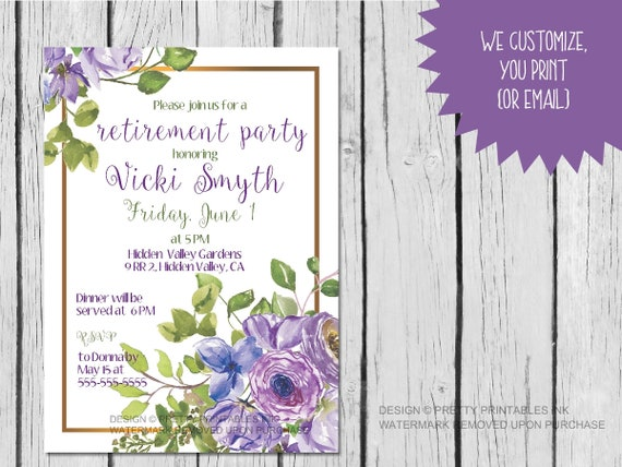 image regarding Printable Retirement Invitations known as Retirement social gathering invitation (printable) / retirement